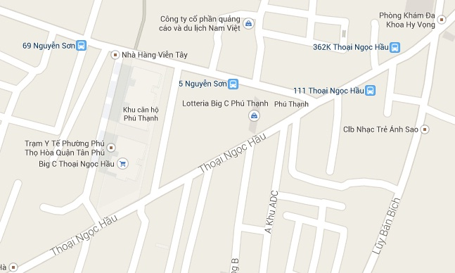 Bán nhà MT Thoại Ngọc Hầu Phường Phú Thạnh Quận Tân Phú, DT: 20m x 100m,  giá 85 tỷ